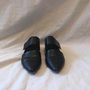 Vince Black Matte Leather shoes